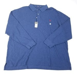 Polo Ralph Lauren Long Sleeve Blue Polo Shirt 3XB